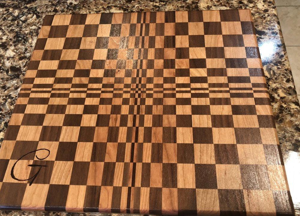 Monogrammed cutting board