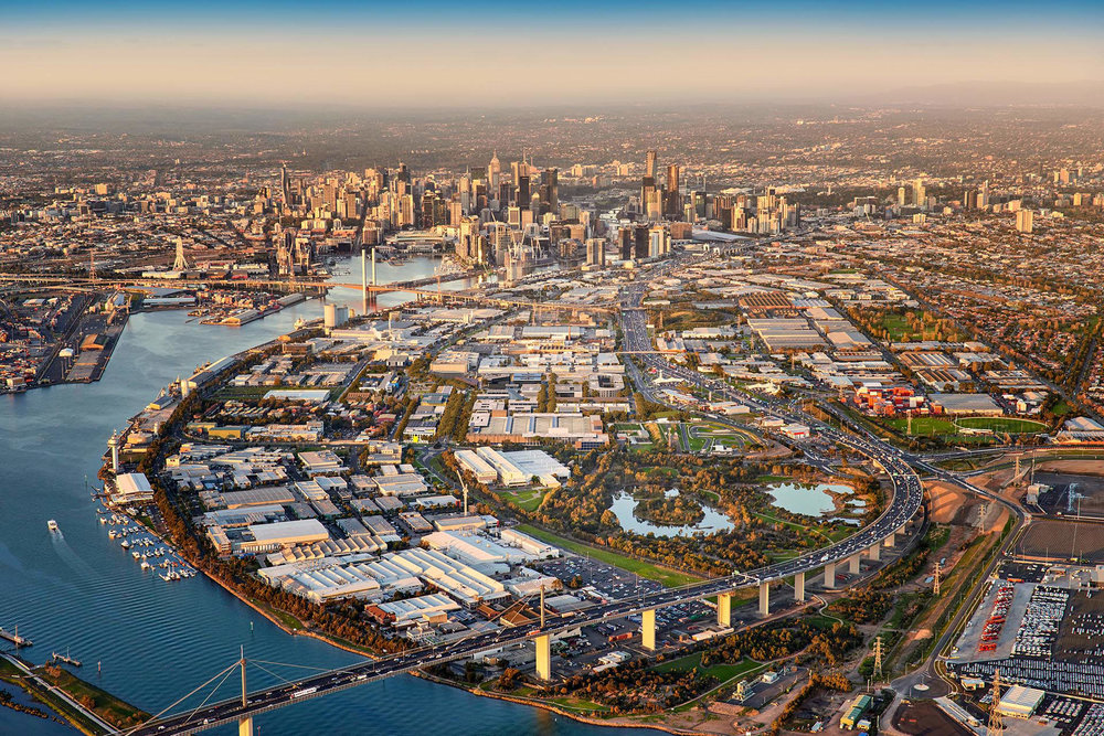 Fishermans Bend Catalyst Site: aerial view