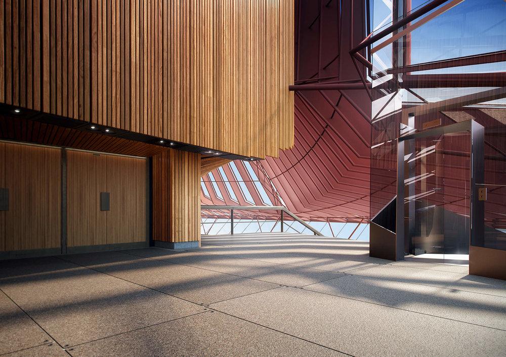 Sydney Opera House Renewal: North foyer lift access.