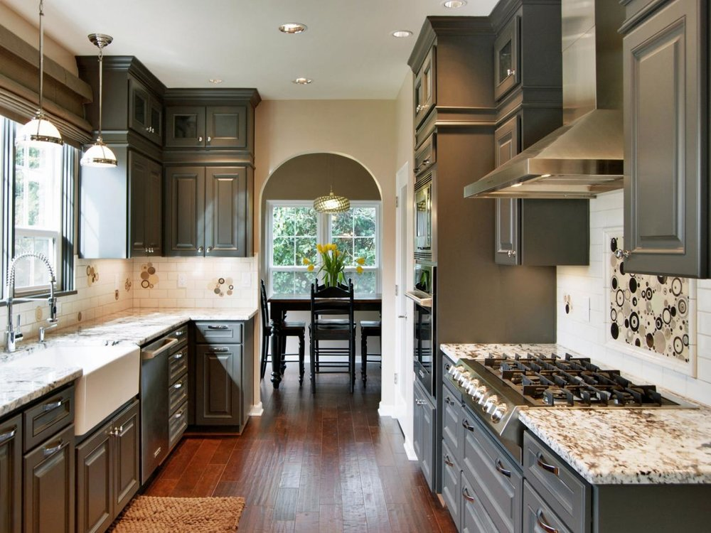 Granite countertop with Apron sink