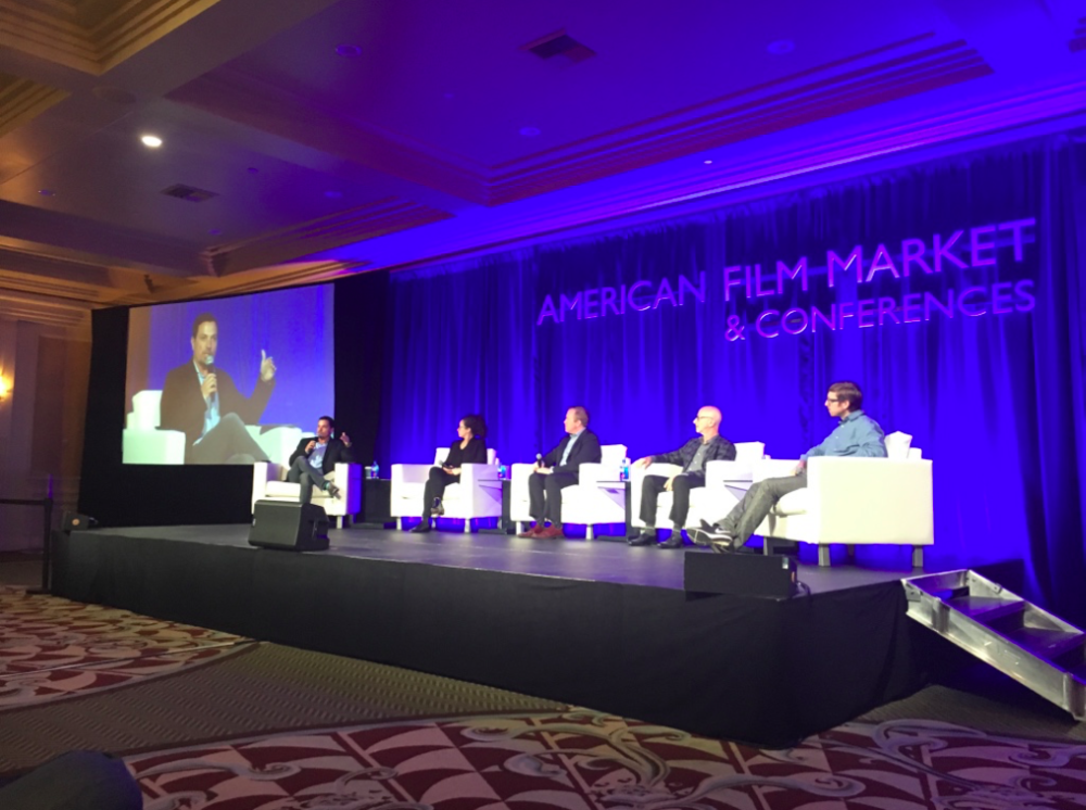 Richard Botto on a panel at the American Film Market and Conference |Using Crowdsourcing to make you movie|Crowdsourcing for Filmmakers |Why is Networking so important in the movie business |5 O'Clock Hustle Episode 12
