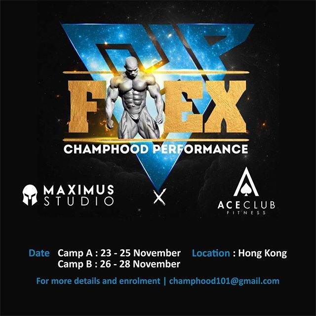 Flex Wheeler Bodybuilding Camp 2.0 at Maximus Studio! . Date: 23-25 November . We are excited to announce that the legendary body builder @officialflexwheeler, known as the Sultan of Symmetry will be hosting his second ever training camp in Hong Kong at Maximus Studio!  Learn from the man himself on how to achieve the perfect shape, size and symmetrical balance to get the ultimate bodybuilding physique through a 3 day training programme. . For more details and enrolment - champhood101@gmail.com 💪🏽 . Please note this training camp is only recommended for advanced trainees and athletes.