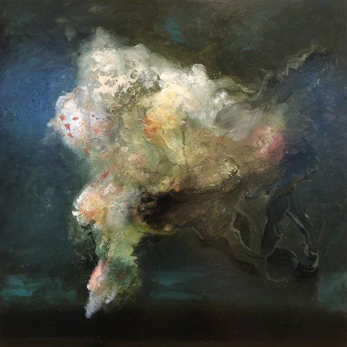 'Three worlds' 2017 45cm x 45cm
