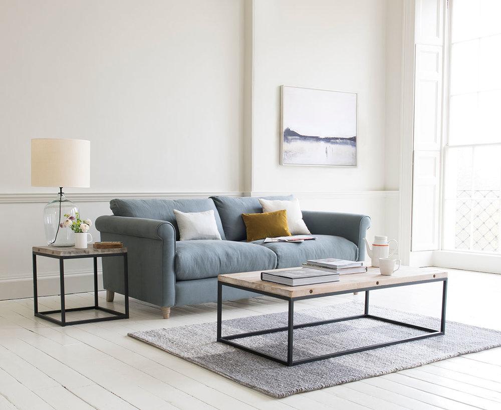 Pastel vintage furniture and sofas