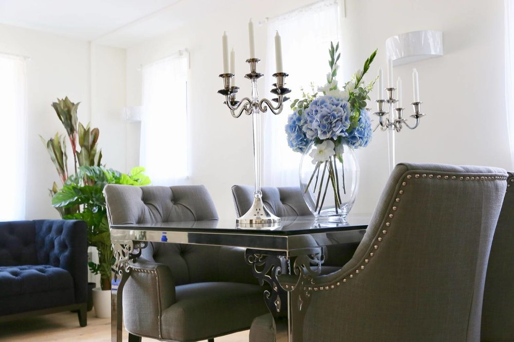 Designer furniture home staging