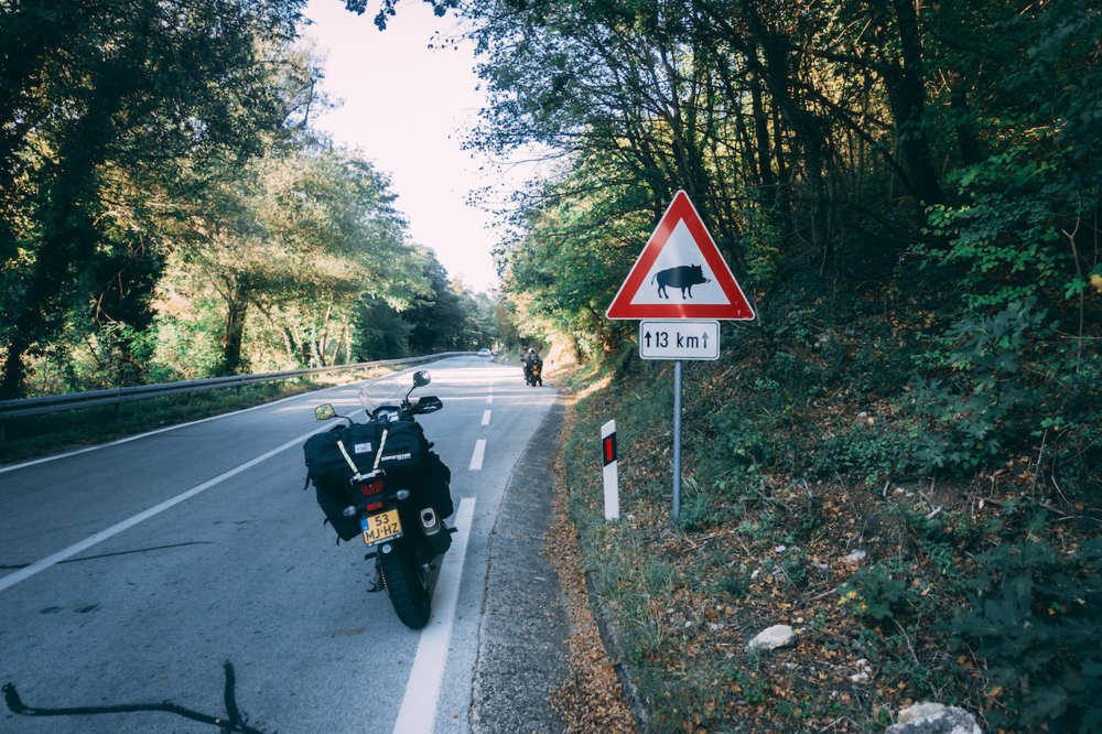 Just across the border, we head into the mountains and need to be careful for….