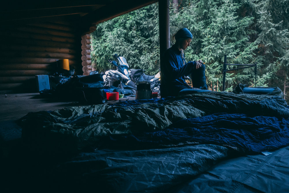 Sleeping in the open