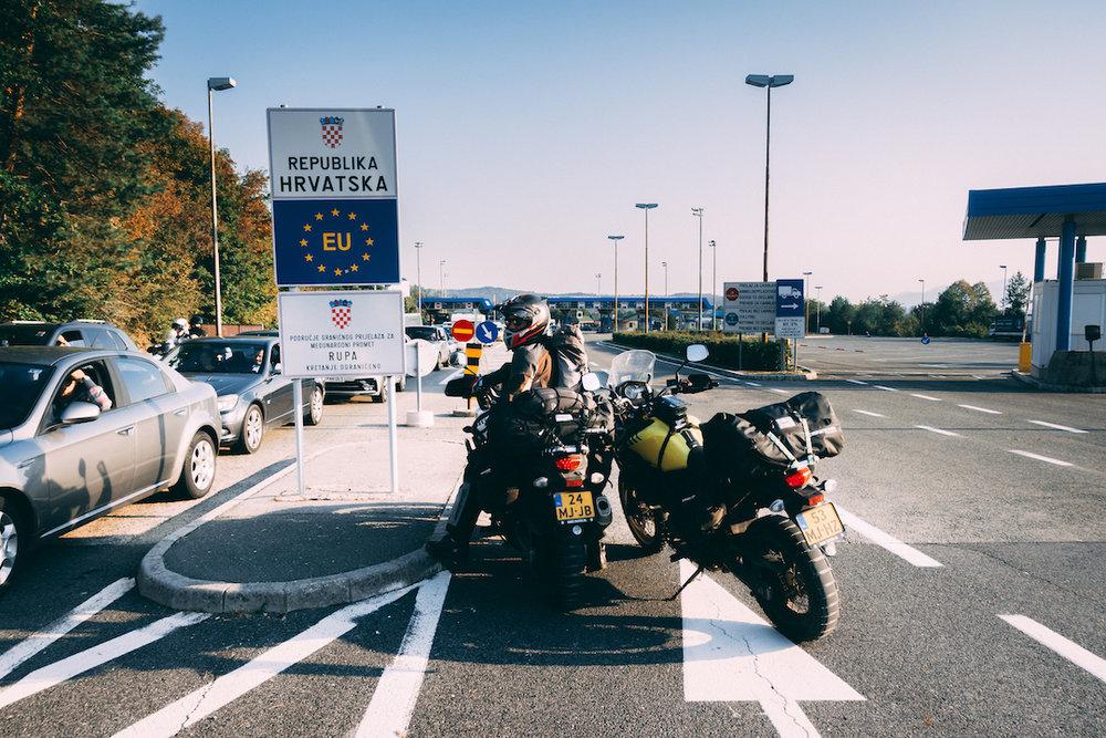 Crossing the border into Croatia