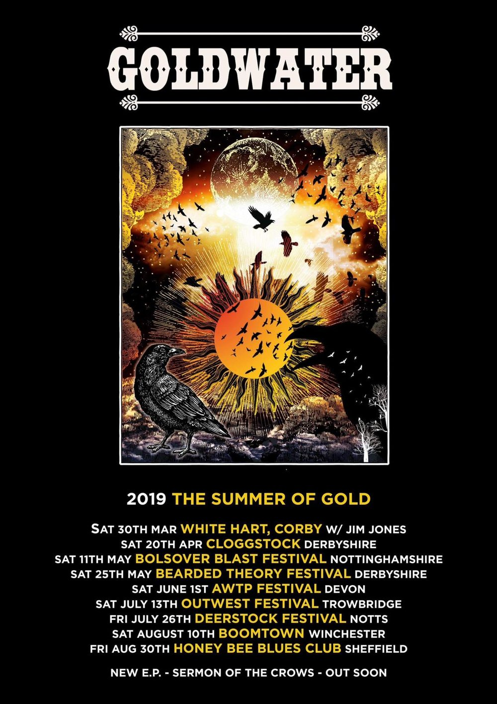 SUMMER OF GOLD! - Festival season is approaching and we've lined up a cracking Summer of Gold! Boomtown, Bearded Theory, OUTwest, Deerstock, Bolsover Blast and Alice's Wicked Tea Party! See you in the fields!!