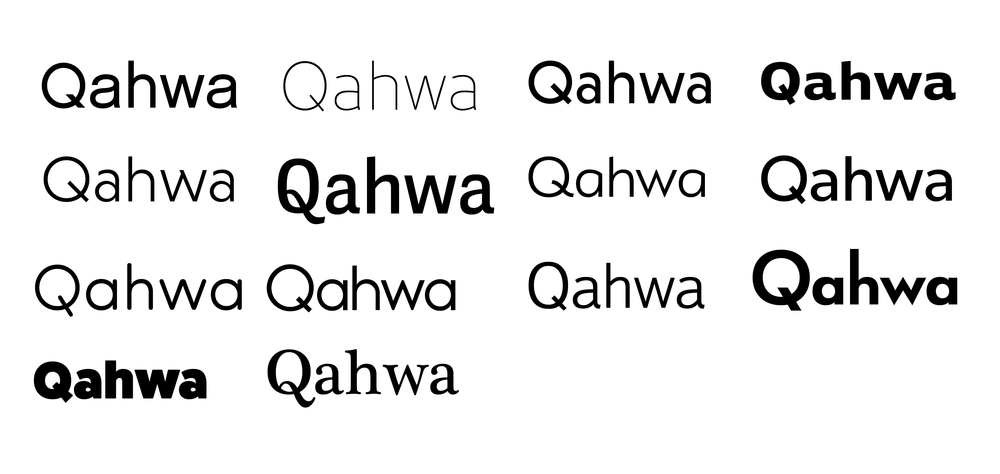 This was a collection of typefaces I put together where the Q letterform is distinctly readable.