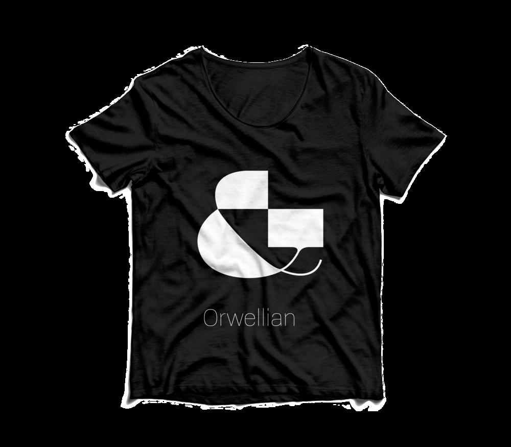 orwellian ampersand tshirt.png