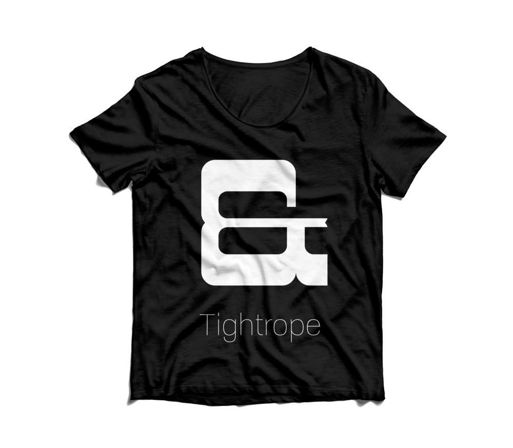 tightrope ampersand tshirt.png