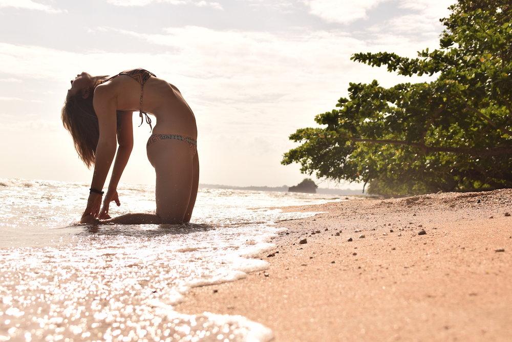 Beach yoga poses