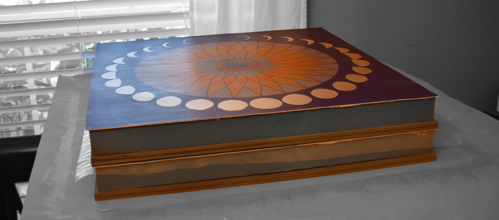 Pressing/drying - the panel sits on a sturdy, rigid surface….