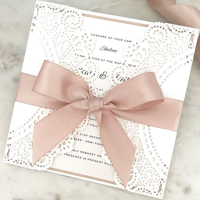 🎀 White Ivy invitations for Katie's Bali wedding 🎀