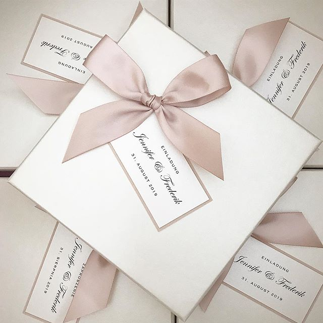 💕 Invitation boxes for our lovely client in Germany 💕