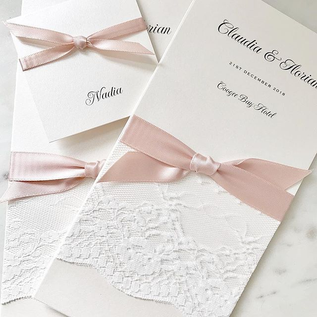 💕 Menus and place cards for my lovely client Claudia 💕