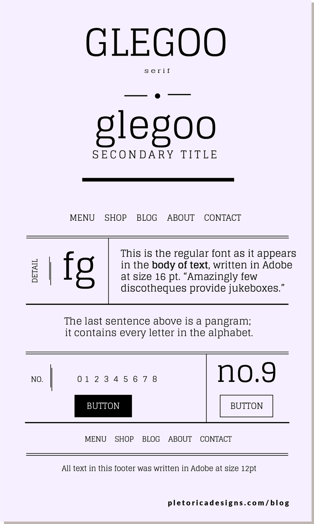 LET'S TYPE: Glegoo — PLETÓRICA DESIGNS