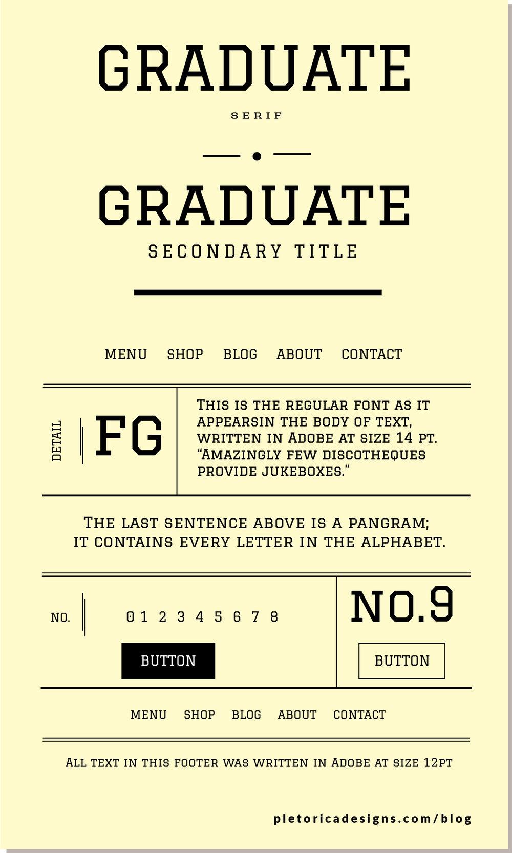 LET'S TYPE: Graduate — PLETÓRICA DESIGNS