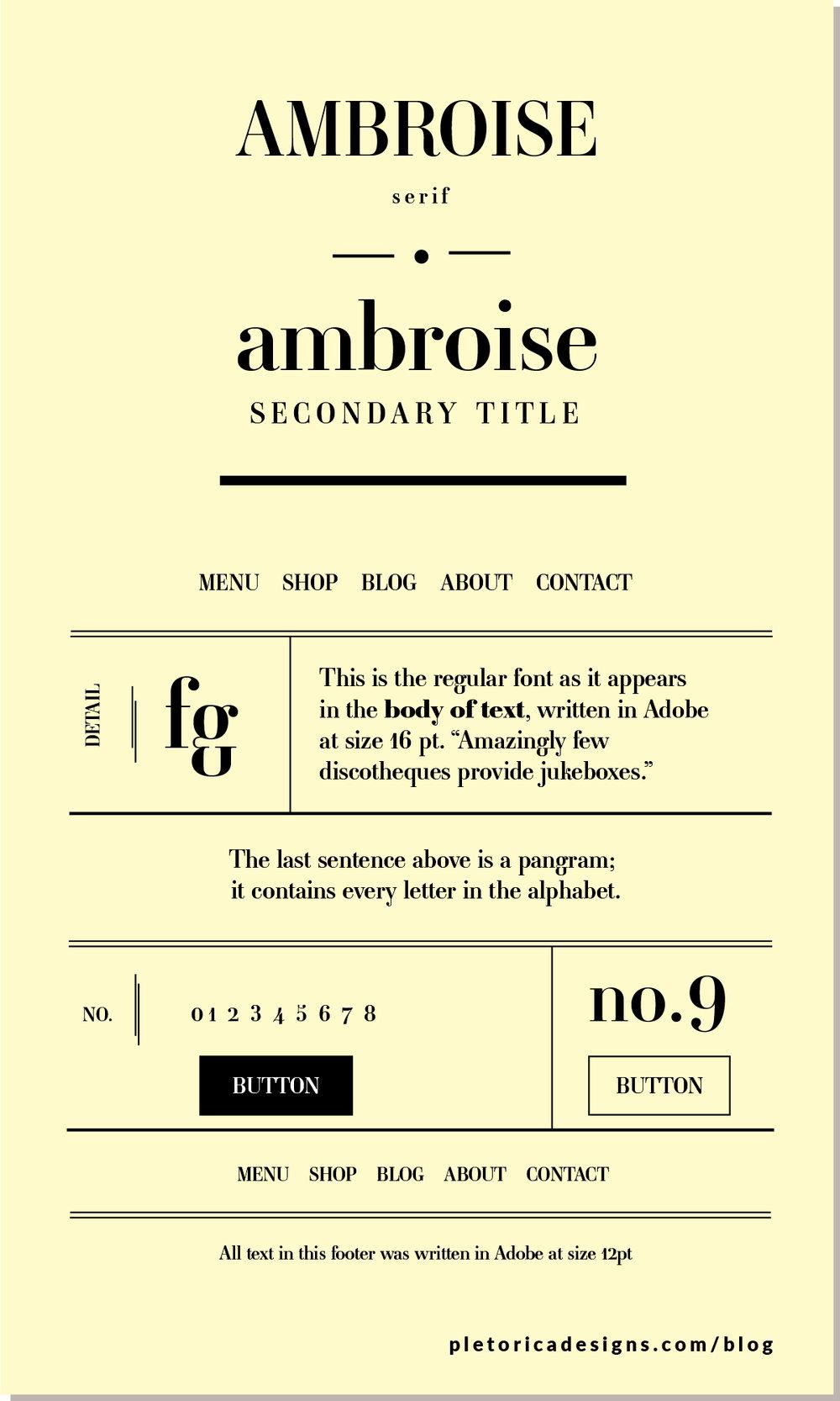LET'S TYPE: Ambroise — PLETÓRICA DESIGNS