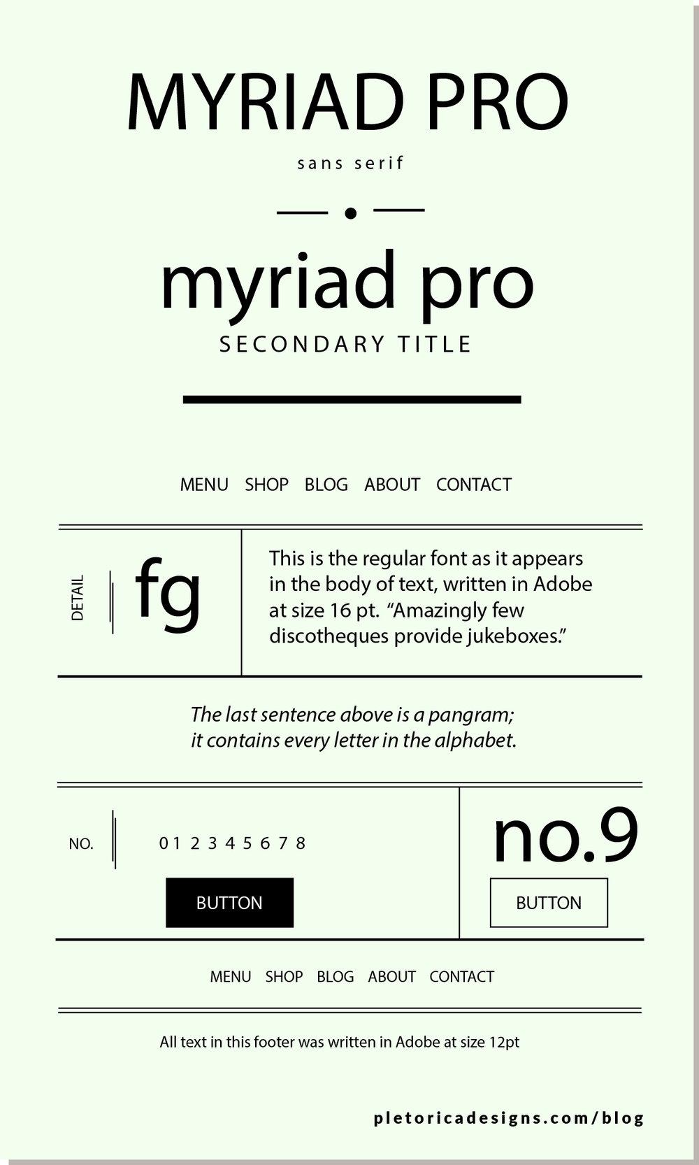 LET'S TYPE: Myriadpro — PLETÓRICA DESIGNS