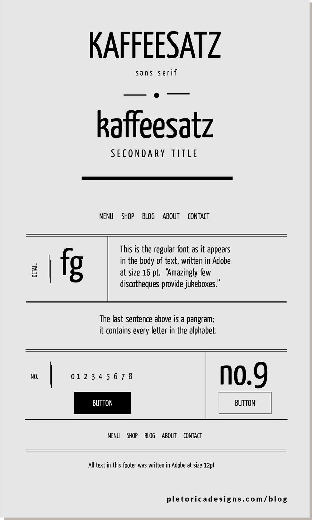 LET'S TYPE: Kaffeesatz — PLETÓRICA DESIGNS