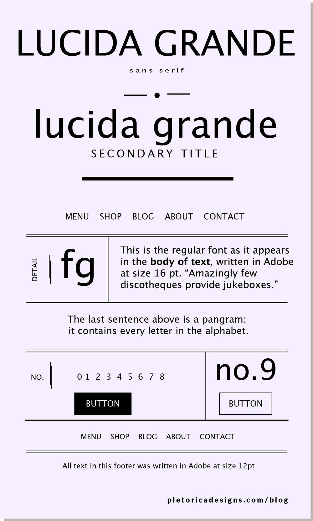 LET'S TYPE: Lucida Grande — PLETÓRICA DESIGNS
