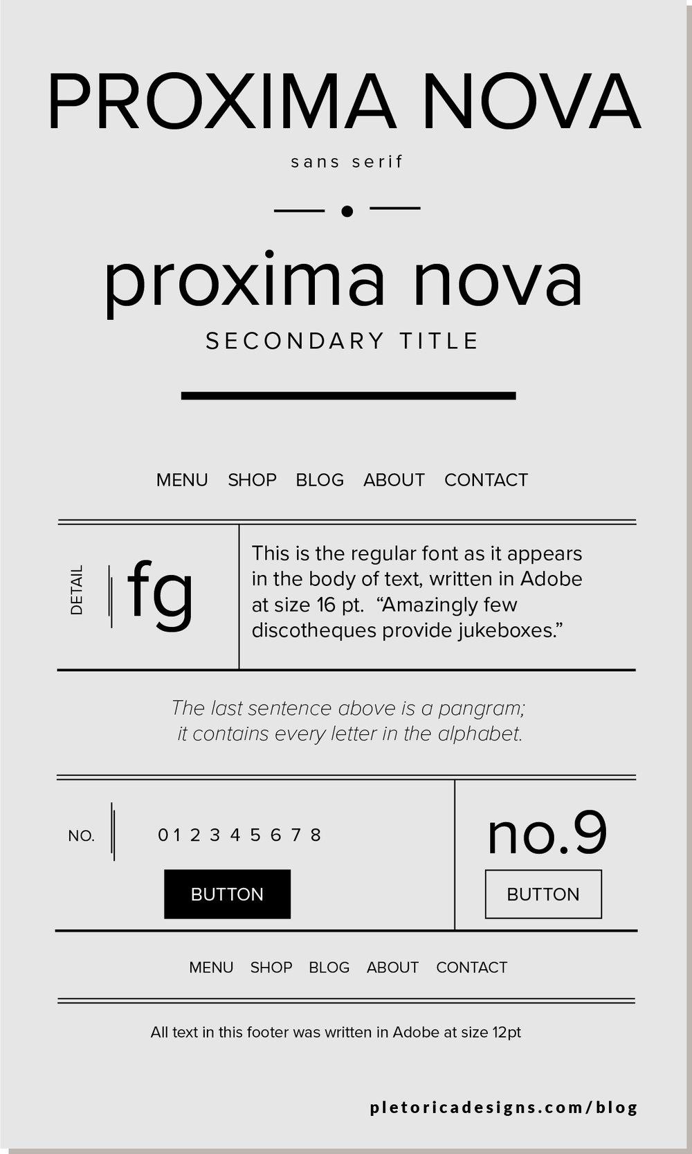 LET'S TYPE: Proxima Nova — PLETÓRICA DESIGNS