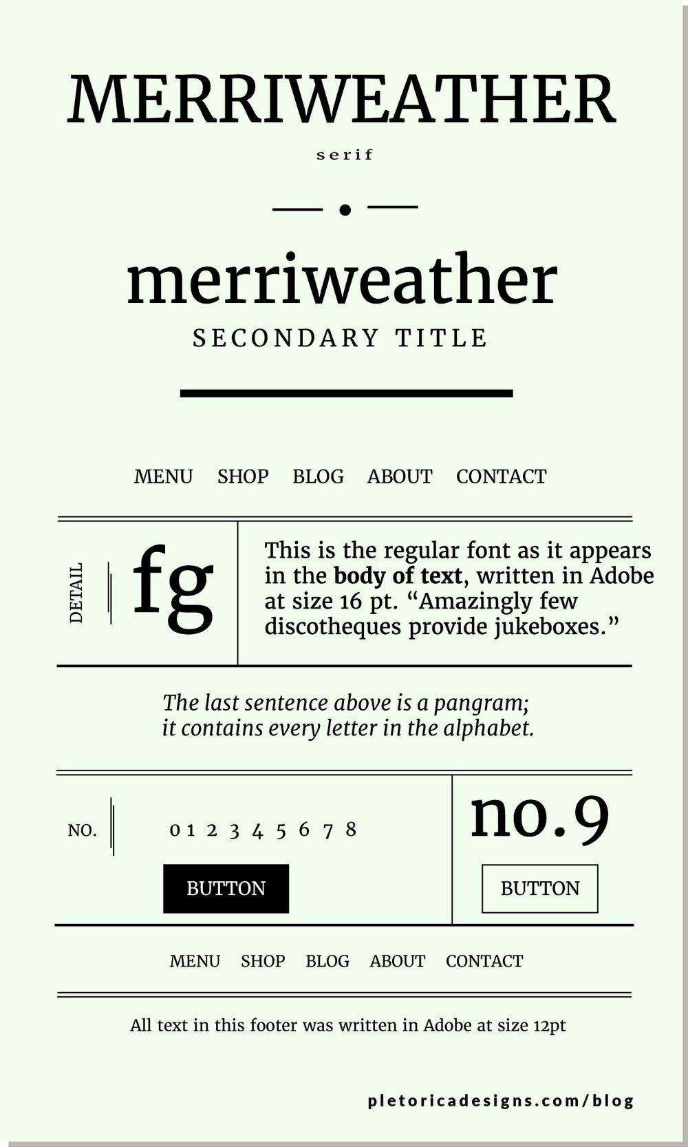 LET'S TYPE: Merriweather — PLETÓRICA DESIGNS