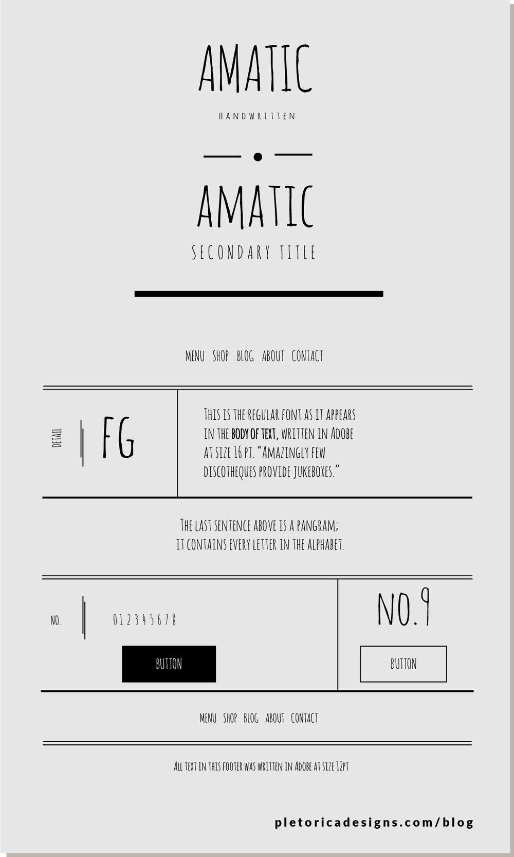 LET'S TYPE: Amatic — PLETÓRICA DESIGNS