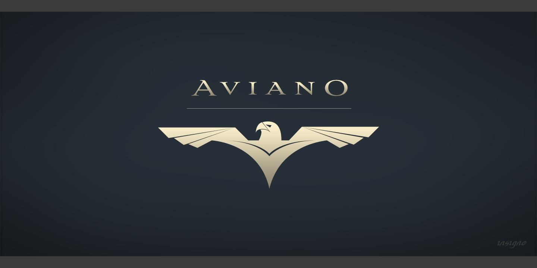 Logotipo con Aviano Flare