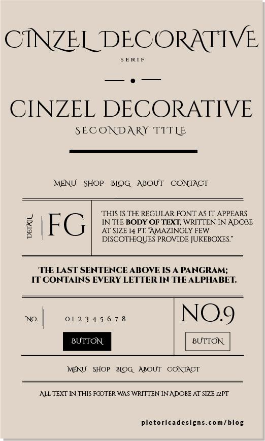 LET'S TYPE: Cinzel Decorative — PLETÓRICA DESIGNS