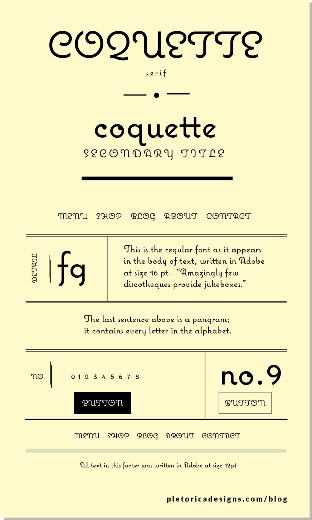 LET'S TYPE: Coquette — PLETÓRICA DESIGNS