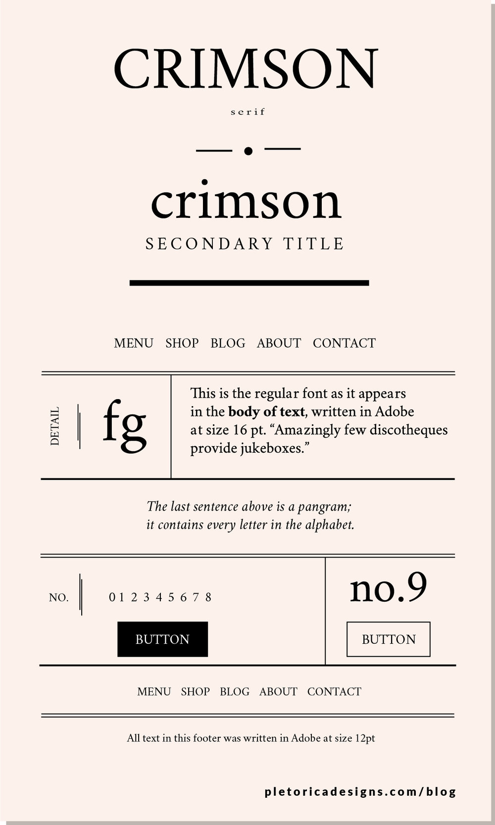 LET'S TYPE: Crimson Text — PLETÓRICA DESIGNS