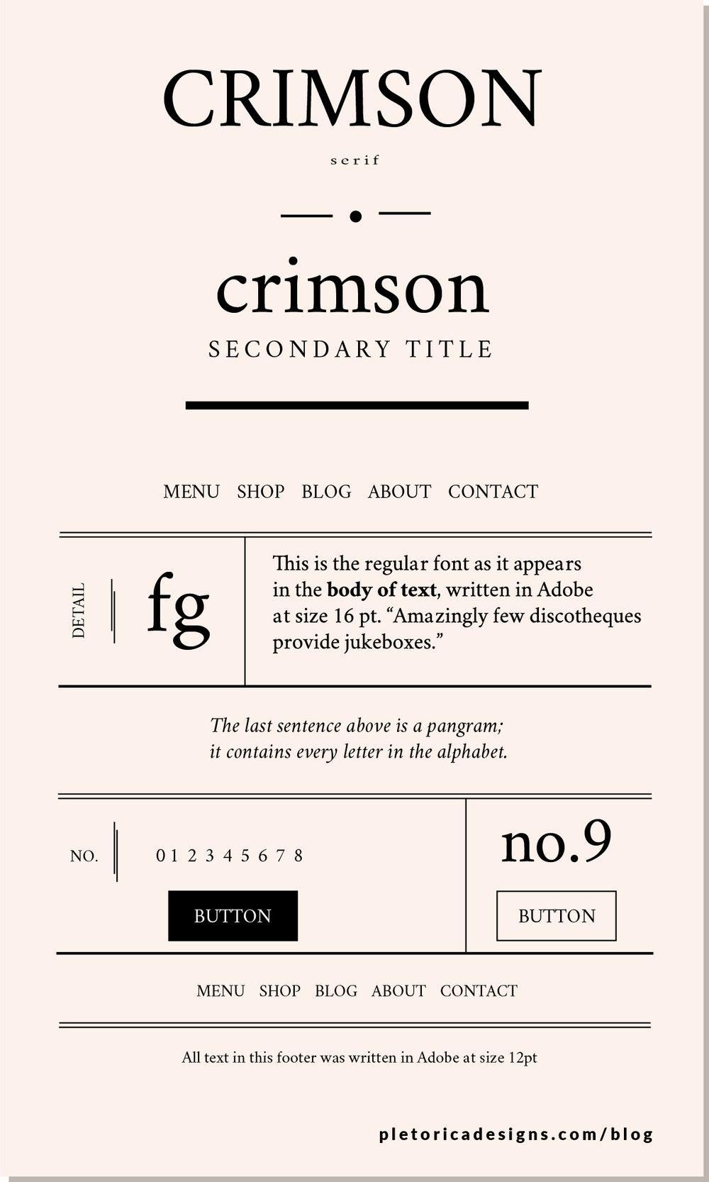 LET'S TYPE: Crimson Text — PLETÓRICA DESIGNS