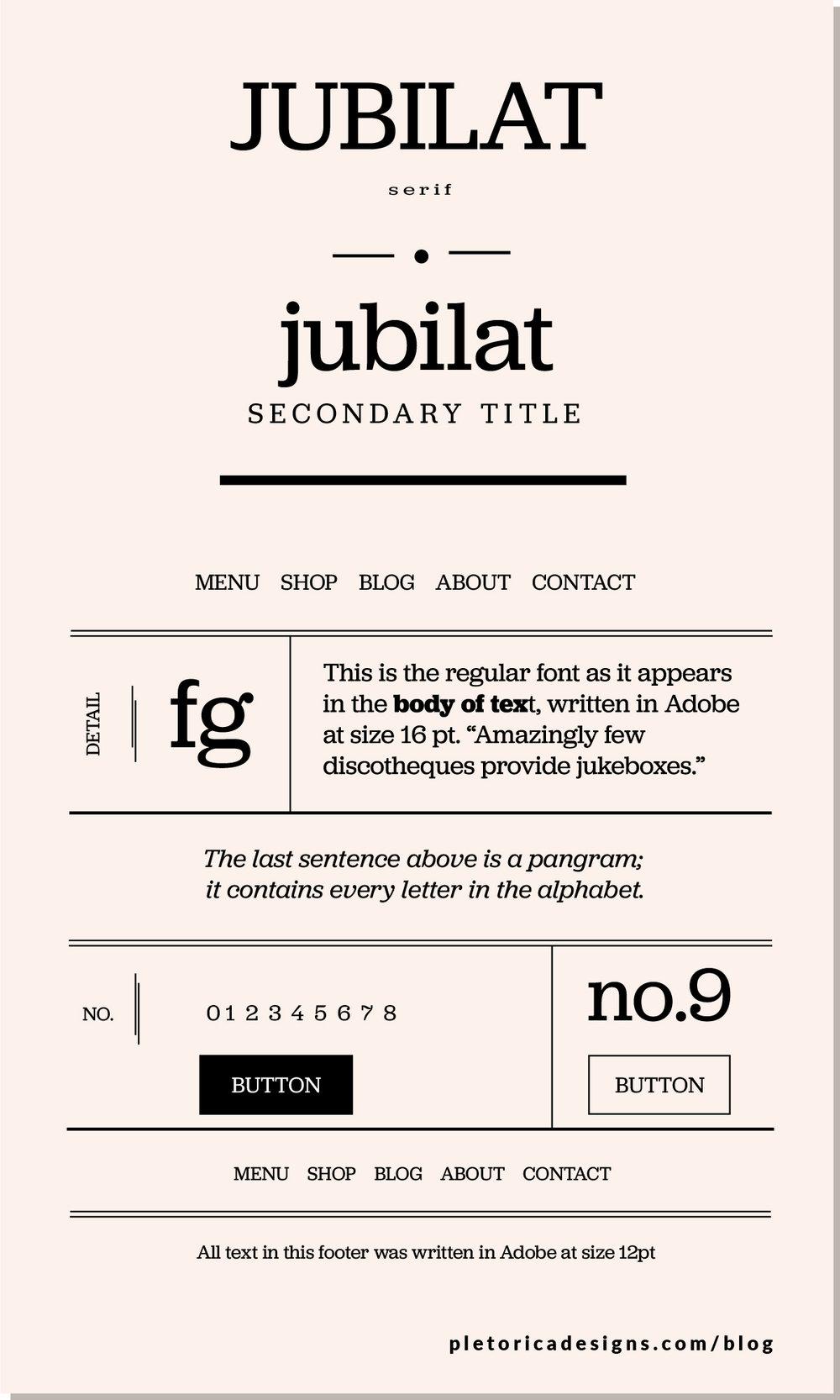 LET'S TYPE: Jubilat — PLETÓRICA DESIGNS