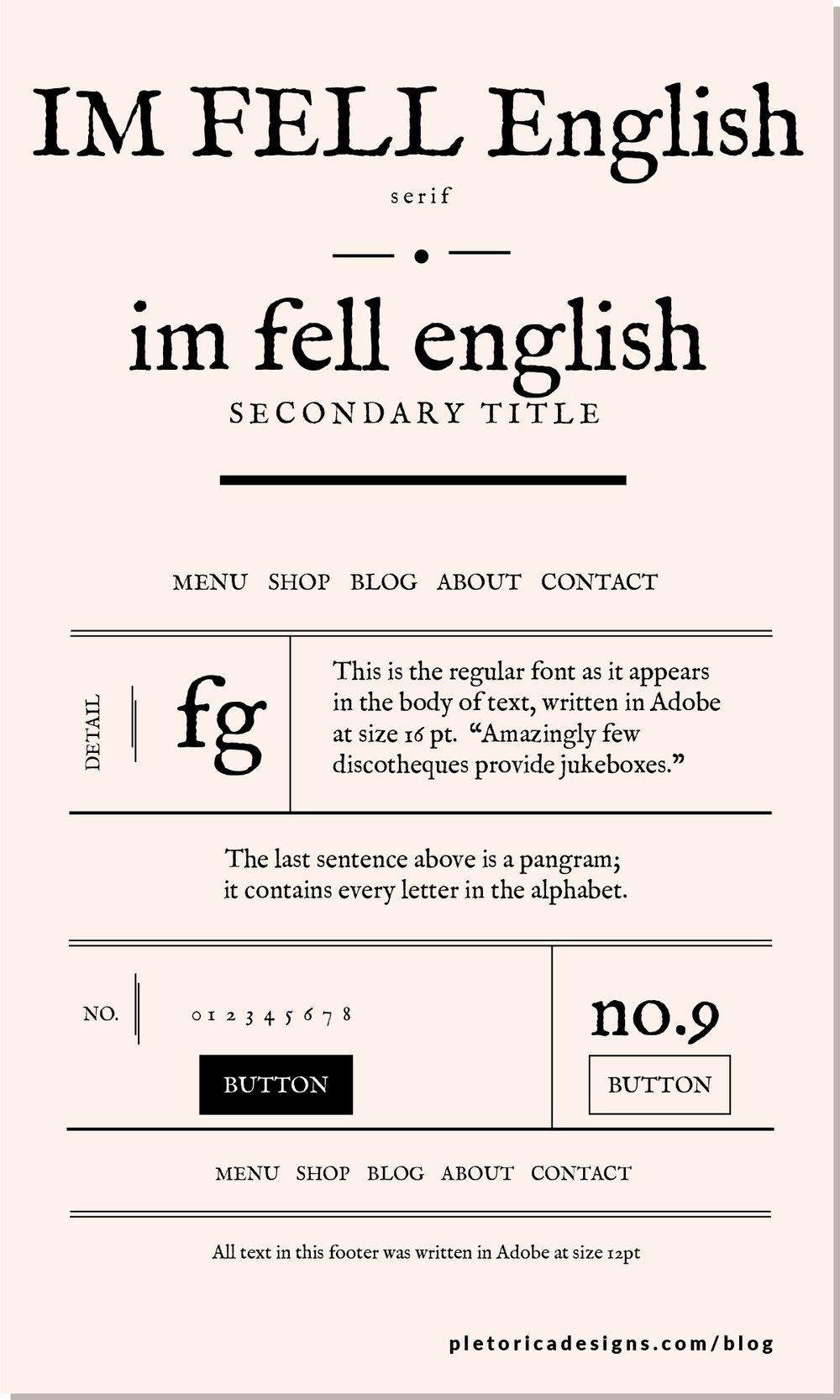 LET'S TYPE: IM FELL English — PLETÓRICA DESIGNS