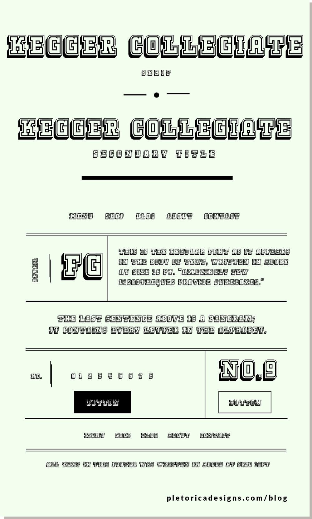 LET'S TYPE: Kegger Collegiate — PLETÓRICA DESIGNS