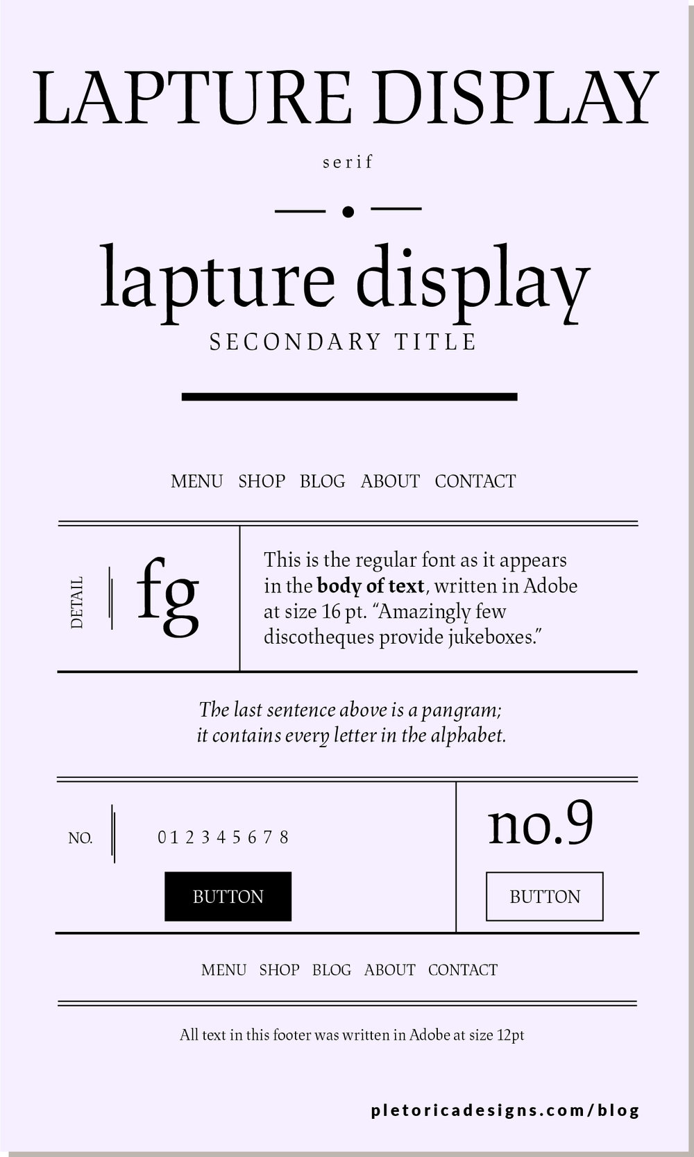 LET'S TYPE: Lapture Display — PLETÓRICA DESIGNS