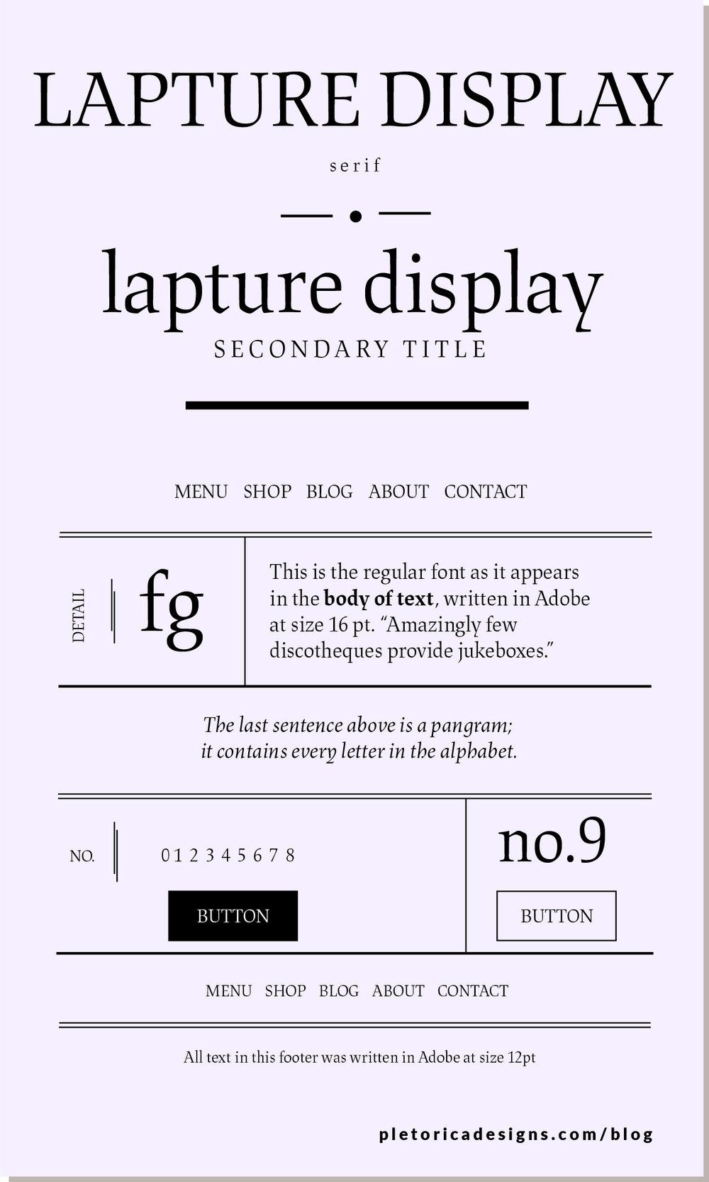 LET'S TYPE: Lapture Display — PLETÓRICA DESIGNS