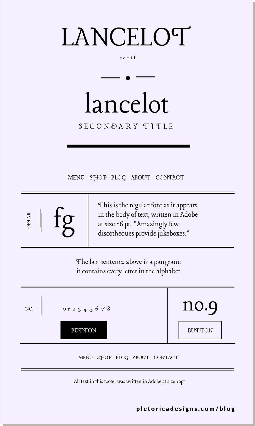 LET'S TYPE: Lancelot — PLETÓRICA DESIGNS