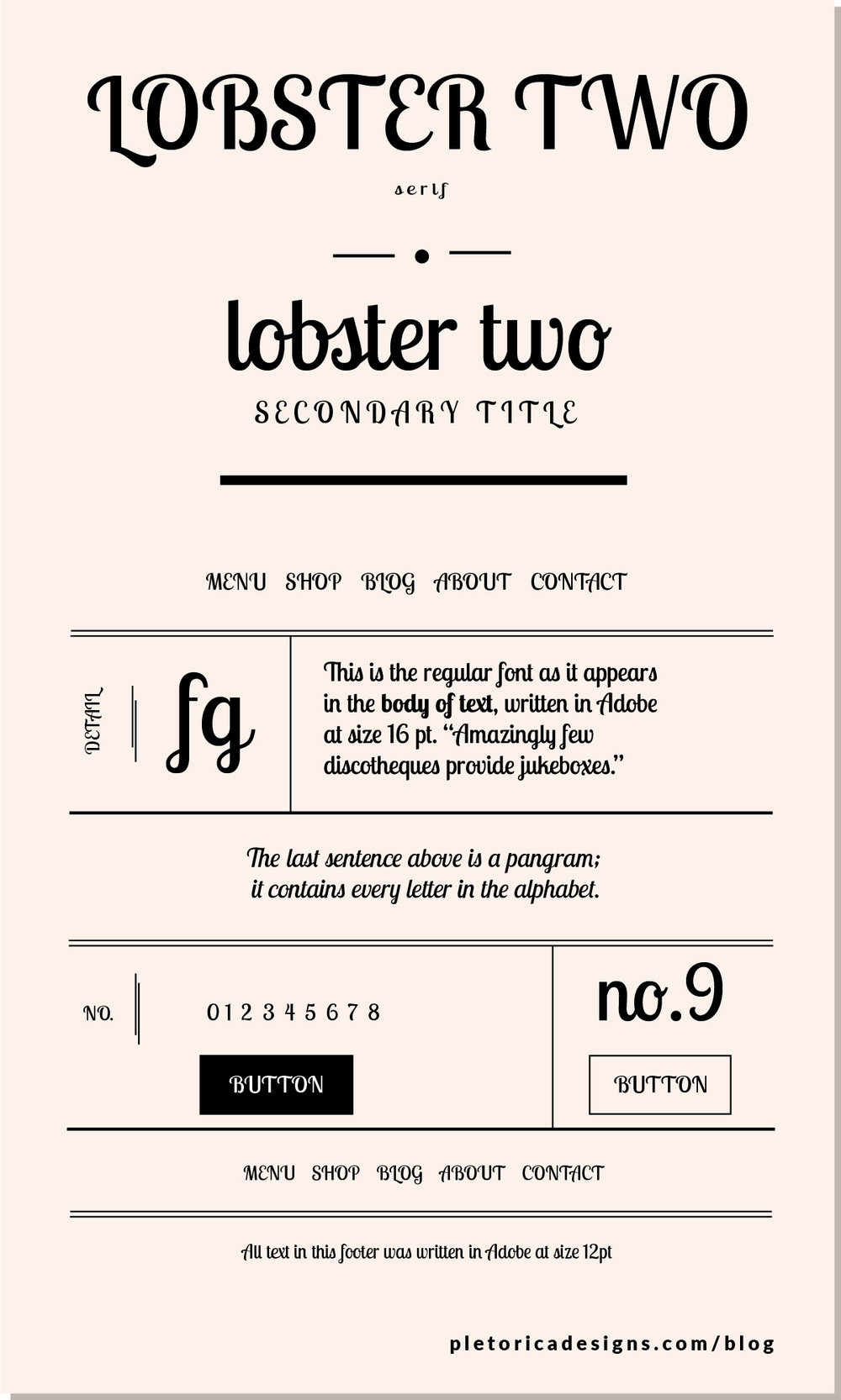 LET'S TYPE: Lobster Two — PLETÓRICA DESIGNS