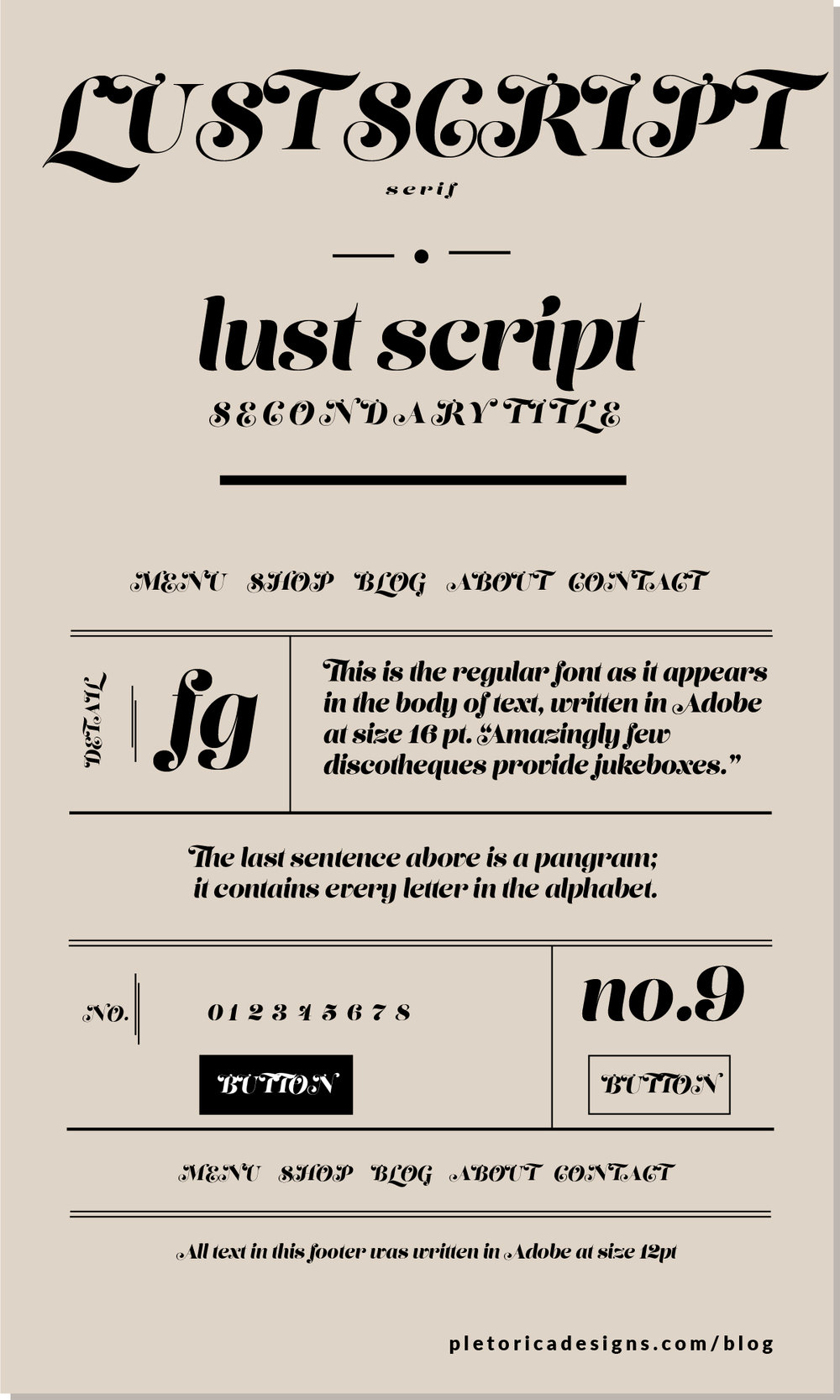 LET'S TYPE: Lust Script — PLETÓRICA DESIGNS