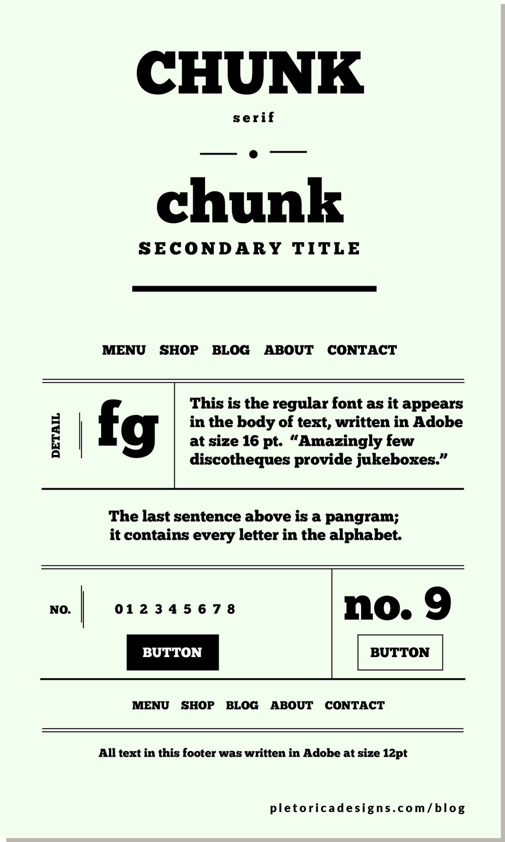 LET'S TYPE: Chunk — PLETÓRICA DESIGNS