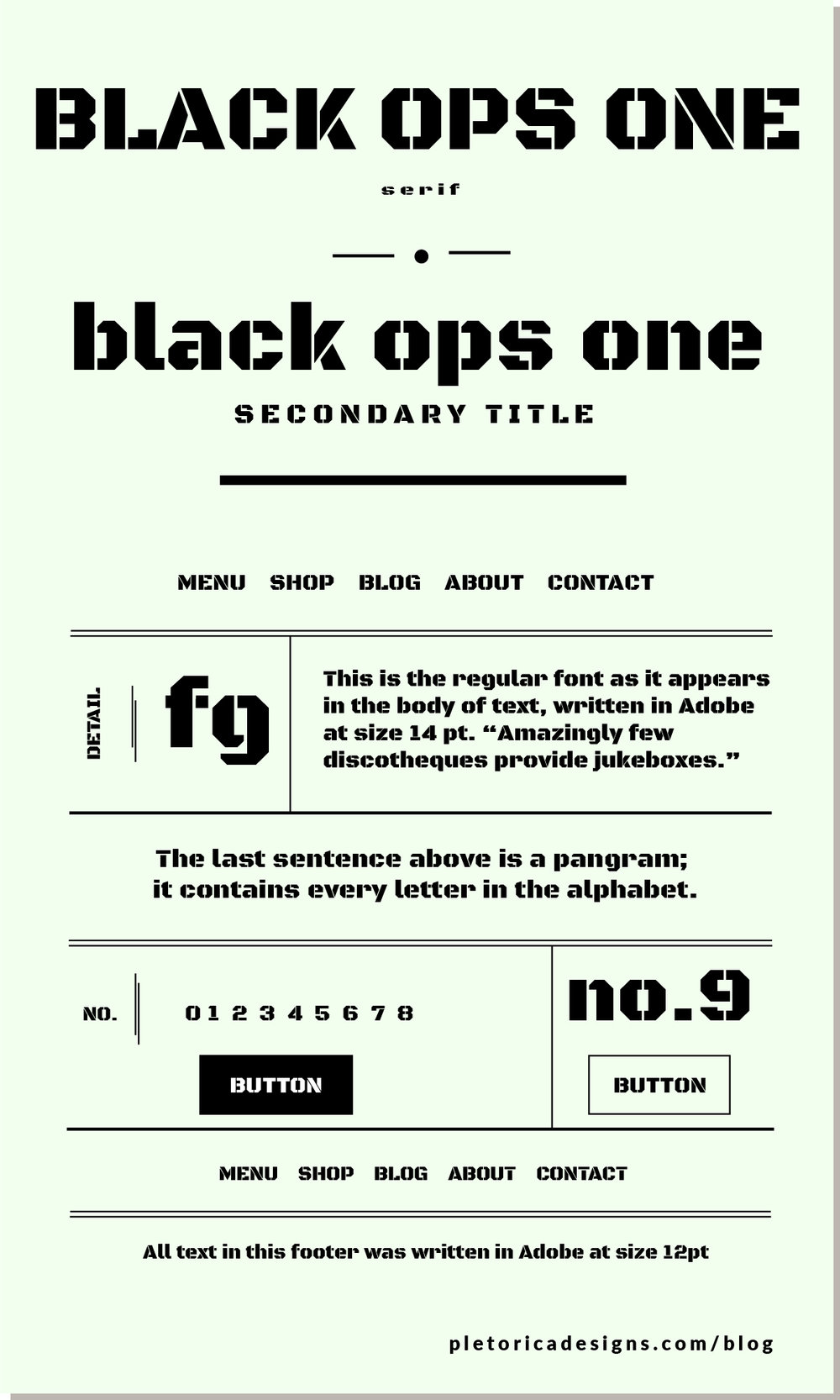 LET'S TYPE: Black Ops One — PLETÓRICA DESIGNS