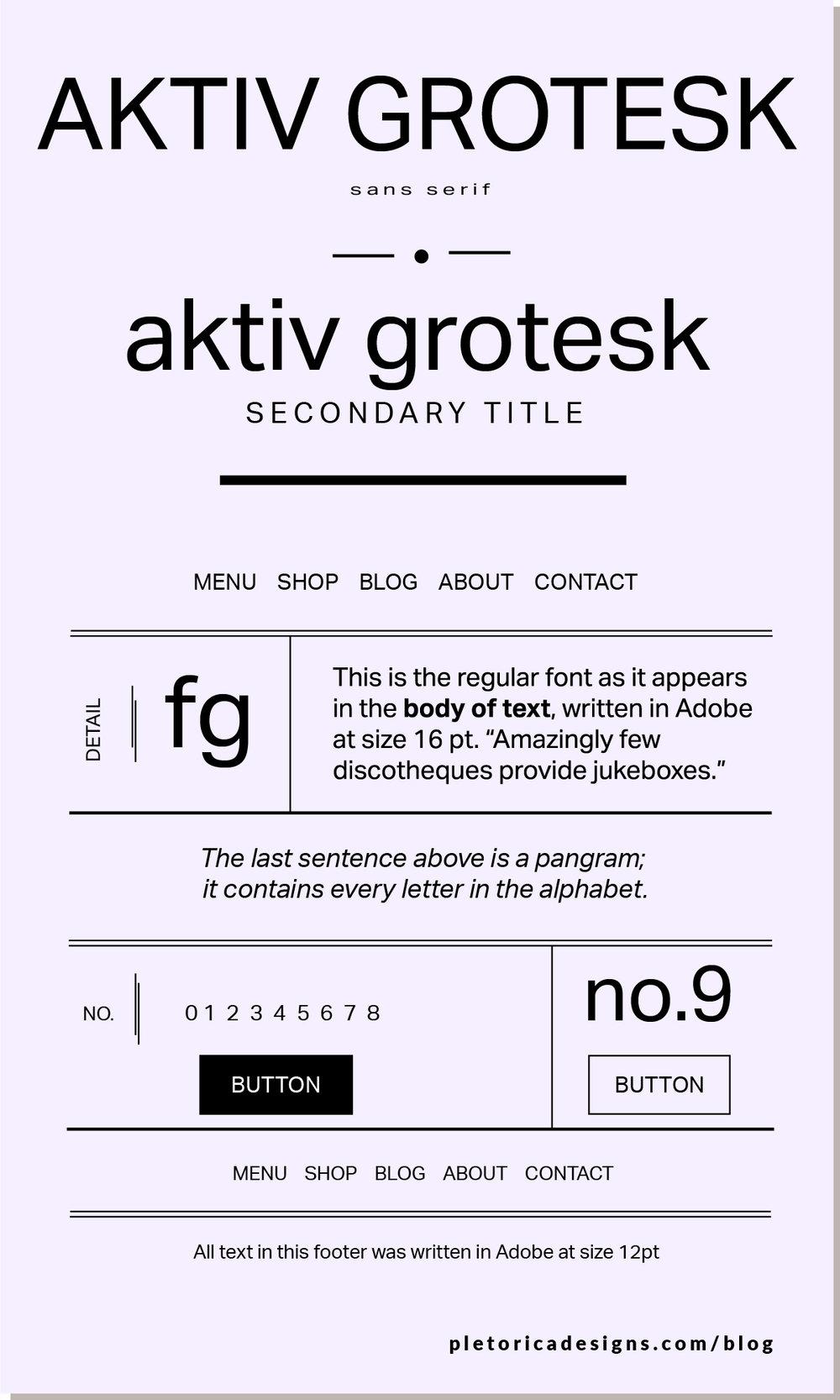 LET'S TYPE: Aktiv Grotesque — PLETÓRICA DESIGNS