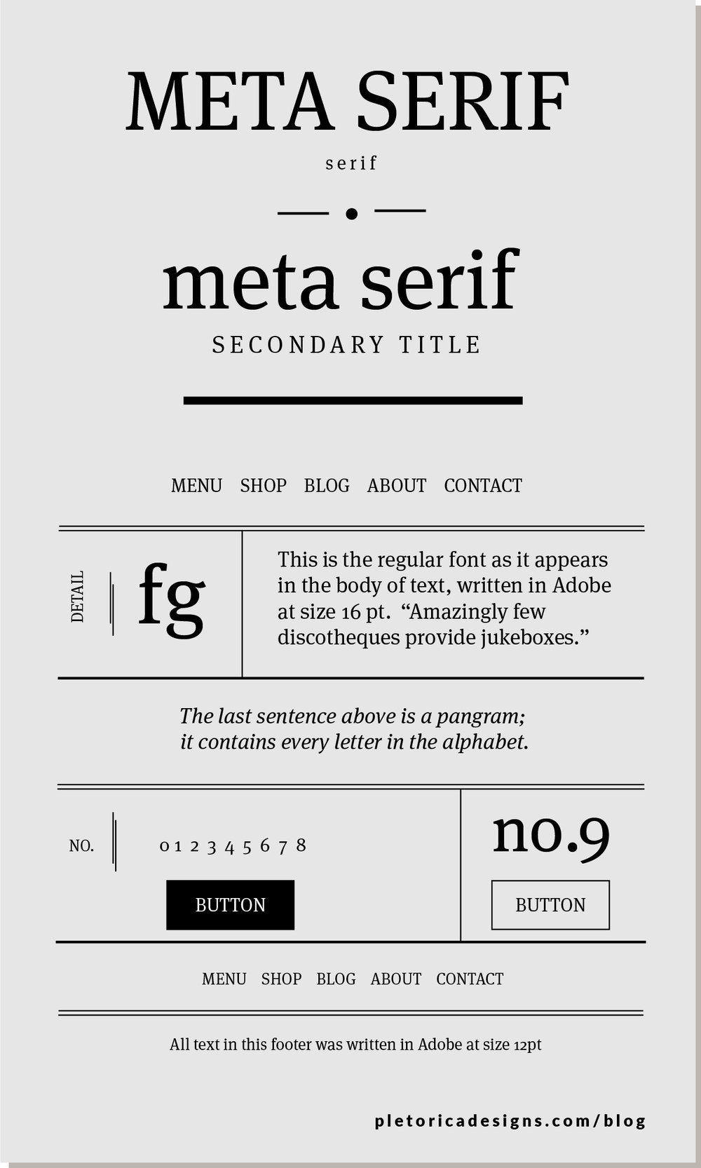 LET'S TYPE: Meta Serif — PLETÓRICA DESIGNS