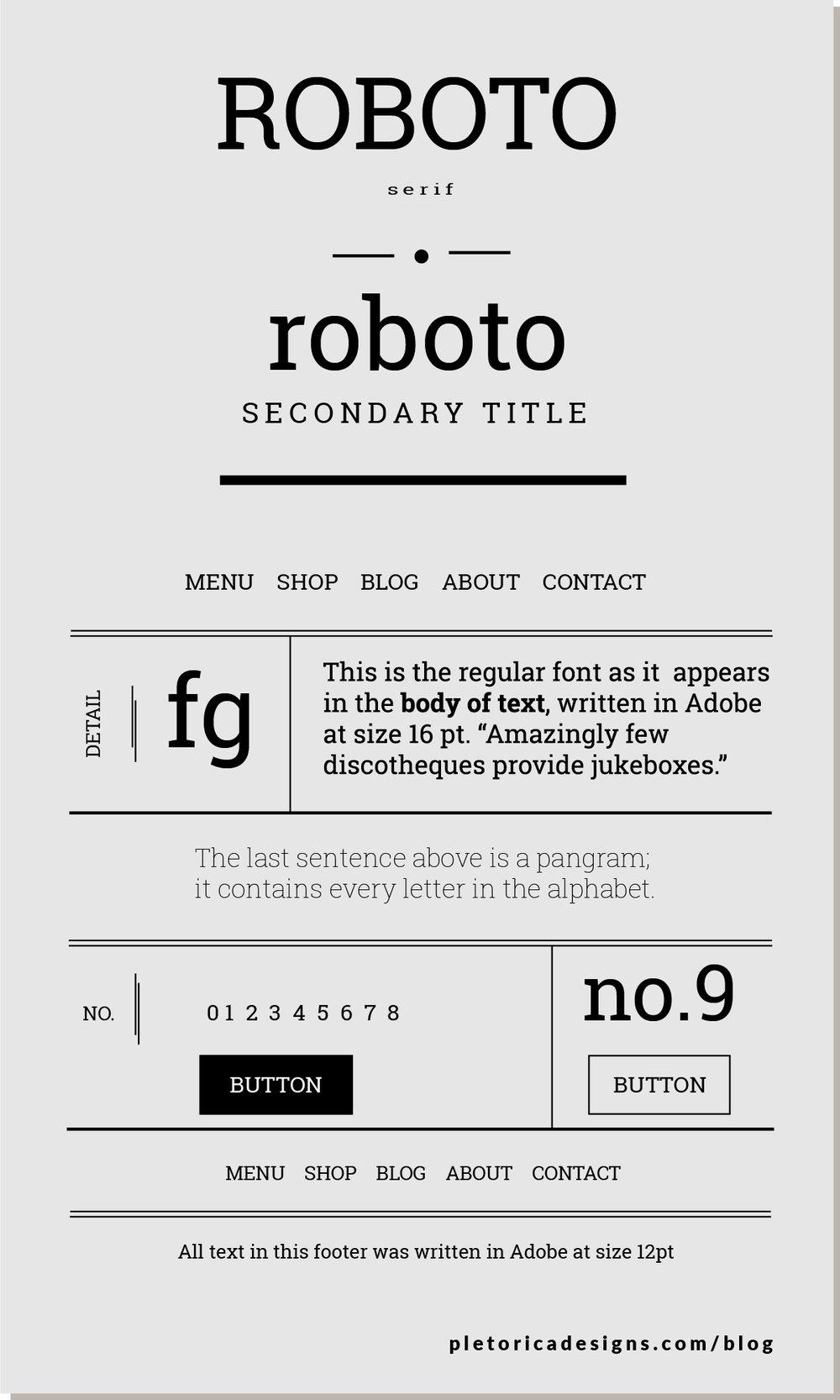 LET'S TYPE: Roboto — PLETÓRICA DESIGNS
