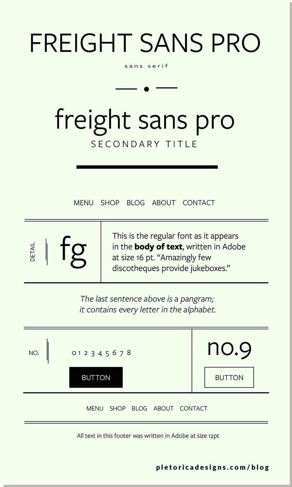 LET'S TYPE: Freight Sans Pro — PLETÓRICA DESIGNS