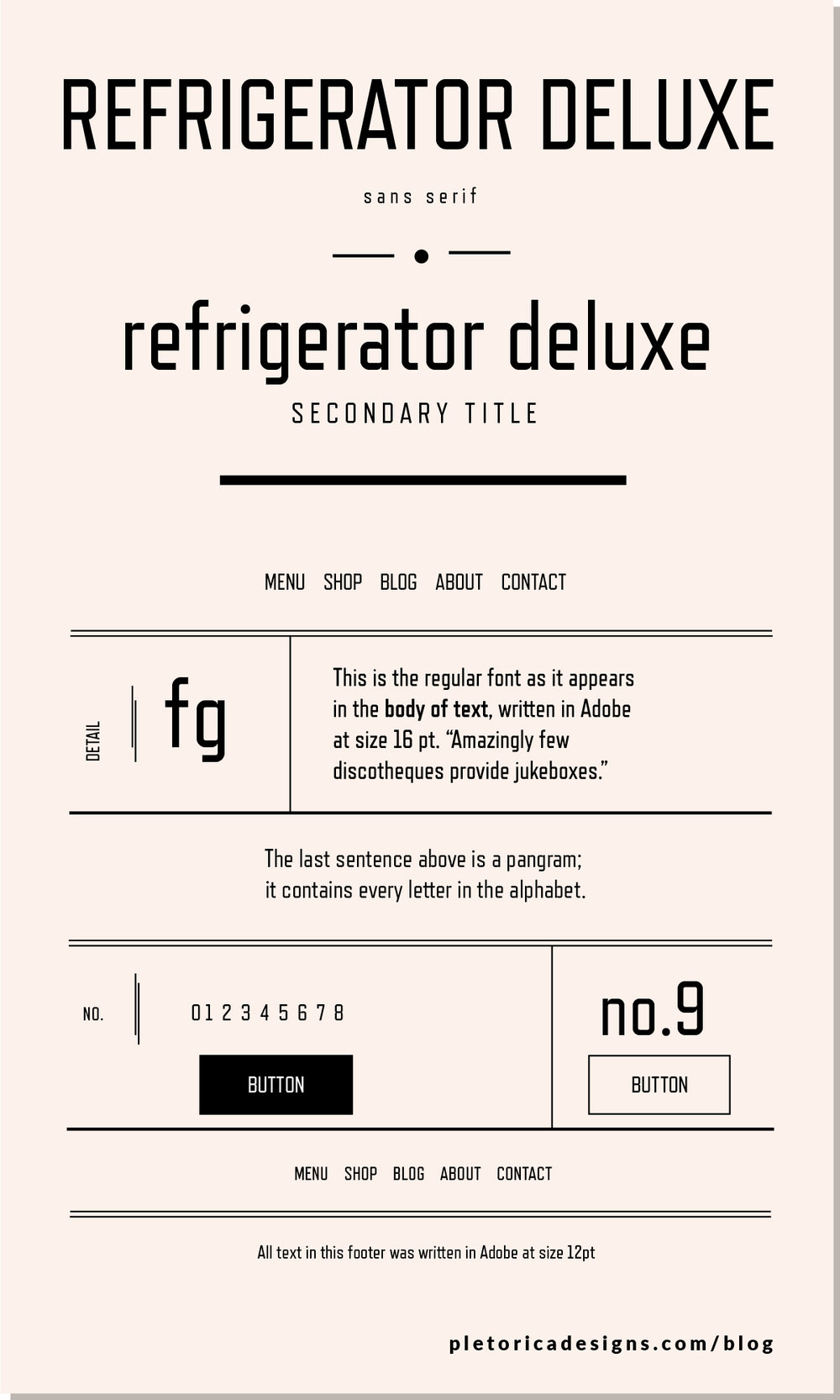 LET'S TYPE: Refrigerator Deluxe — PLETÓRICA DESIGNS